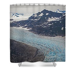 Leconte Glacial Flow Shower Curtain by Mike Reid