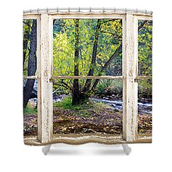 Left Hand Creek Rustic Window View Colorado Shower Curtain by James BO  Insogna