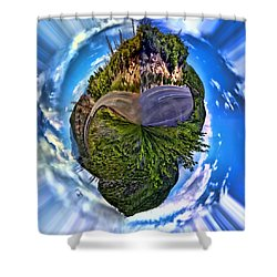 Left Or Right Shower Curtain by Adam Vance