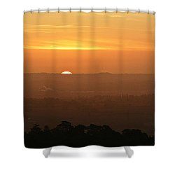 Leicestershire Sunrise Shower Curtain by Linsey Williams
