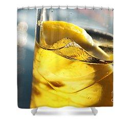 Lemon Drink Shower Curtain by Carlos Caetano