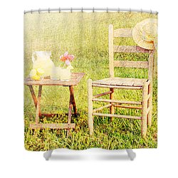 Lemonade Shower Curtain by Darren Fisher