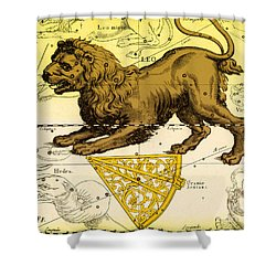 Leo, The Hevelius Firmamentum, 1690 Shower Curtain by Science Source
