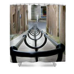 Shower Curtain featuring the photograph Lerwick Lanes by Lynn Bolt