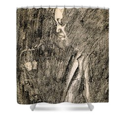 Lester Young Shower Curtain by Mel Thompson