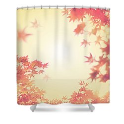 Let It Fall Shower Curtain by Amy Tyler