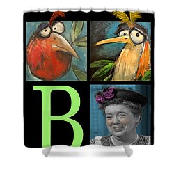 Let Me Tell You Bout The Birds And Shower Curtain by Tim Nyberg