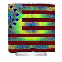 Let Your Freak Flag Fly Shower Curtain by Bill Cannon