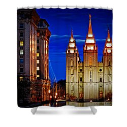 Let Your Light Shine Shower Curtain by La Rae  Roberts