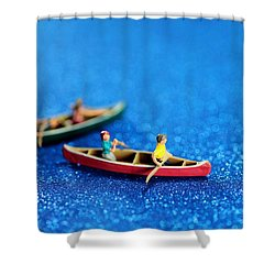 Let's Boating Together Shower Curtain by Paul Ge