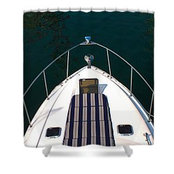Shower Curtain featuring the photograph Let's Get Sailing by Milena Ilieva