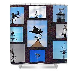 Lets Talk About The Weather Shower Curtain by Bill Cannon
