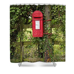 Letterbox In A Hedge Shower Curtain by Louise Heusinkveld