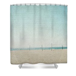 Shower Curtain featuring the photograph Letters From The Beach by Lisa Parrish