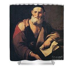 Leucippus, Ancient Greek Philosopher Shower Curtain by Science Source