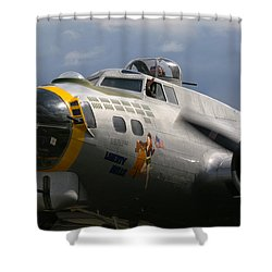 Liberty Belle B17 Bomber Shower Curtain
