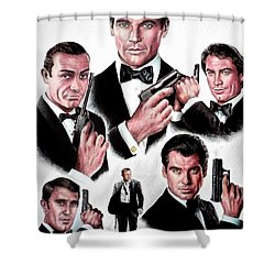 Licence To Kill  Digital Shower Curtain by Andrew Read