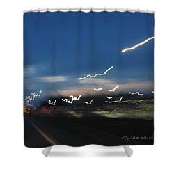 Lights After Dusk Shower Curtain