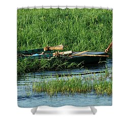 Life Along The Nile Shower Curtain by Vivian Christopher