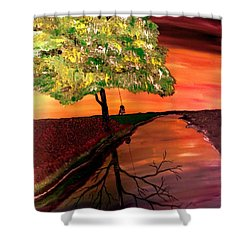 Life And Death Digital Enhanced Shower Curtain by Mark Moore