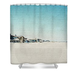 Shower Curtain featuring the photograph Letters From The Beach House - Square by Lisa Parrish