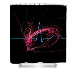 Life Signs Shower Curtain by Adam Vance
