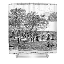 Life-sized Chess, 1882 Shower Curtain by Granger