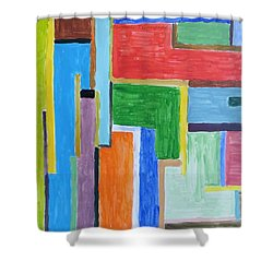 Shower Curtain featuring the painting Life by Sonali Gangane
