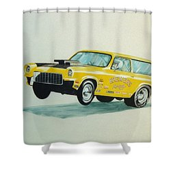 Lift Off Shower Curtain by Stacy C Bottoms