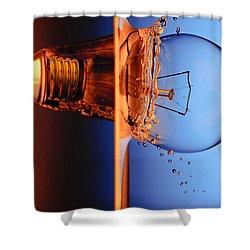 Light Bulb Shot Into Water Shower Curtain by Setsiri Silapasuwanchai