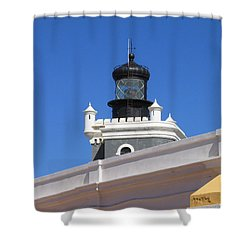 Lighthouse At Puerto Rico Castle Shower Curtain