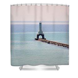 Light House Shower Curtain by Dyana Rzentkowski
