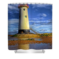 Lighthouse Shower Curtain by Adrian Evans
