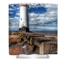 Lighthouse Entrance Shower Curtain by Adrian Evans