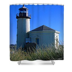 Lighthouse Shower Curtain by Rory Sagner