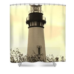 Shower Curtain featuring the photograph Lighthouse Tranquility by Athena Mckinzie