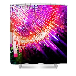 Lighting Explode Shower Curtain by Setsiri Silapasuwanchai