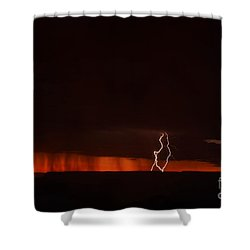 Lightning At The Grand Canyon Shower Curtain