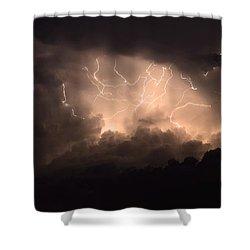 Lightning Shower Curtain by Bob Christopher
