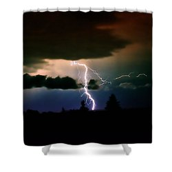 Lightning Over The Plains I Shower Curtain by Ellen Heaverlo