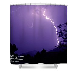 Lightning Over The Rogue Valley Shower Curtain by Mick Anderson