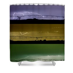 Lightning Warhol  Abstract Shower Curtain by James BO  Insogna