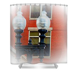 Lights Of Boston Shower Curtain by Marie Jamieson