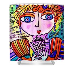 Lily Bart Shower Curtain by Sandra Silberzweig
