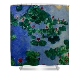 Shower Curtain featuring the painting Lily Pond by Sonali Gangane
