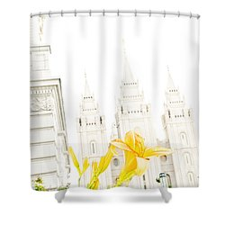 Lily Temple Funky Shower Curtain by La Rae  Roberts