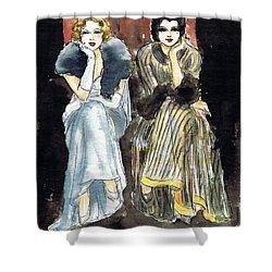 Lilyan And Kay 2 Shower Curtain by Mel Thompson