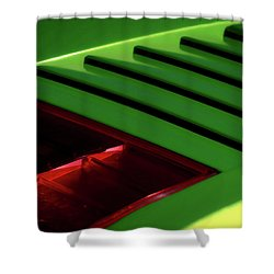 Lime Light Shower Curtain by Douglas Pittman