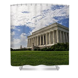 Lincoln Memorial And Sky Shower Curtain
