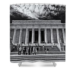 Lincoln Memorial In Black And White Shower Curtain
